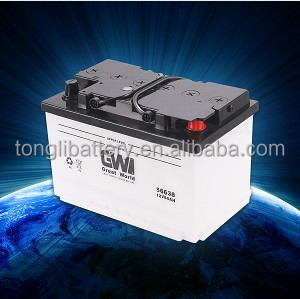 Dry-charged 12v 66Ah 56638 Lead-acid Car Battery