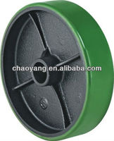 PU / rubber / nylon steer caster wheel for pallet truck /trolley 2T, 2.5T, 3T