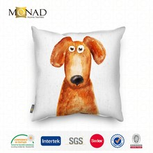Art Design Mediterranean Colorful Cartoon Animal Design Dog Painting Cushion Cover