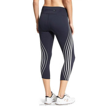Performance-fitted Mid-rise Tight leg reflective gel print tights woman leggings