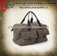 12 oz Dense Canvas Travel Bag multi-pockets canvas Duffle bag wholesale
