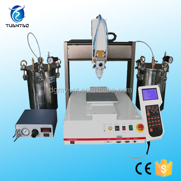 China supplier desktop automatic loctite uv resin dispensing robot