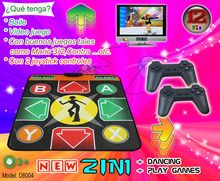 NEW 12 Bit 2-IN-1 Dancing + Game Single Dance Mat TV Game For Exercise Pad