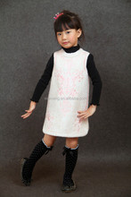 New Products 2015 Autumn Sleeveless Worsted Girl Dress