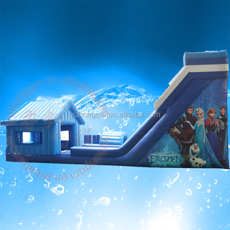 New inflatable frozen bounce slide combo PVC tarpaulin adult kids bouncy castle prices