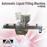 Automatic bottle filling & capping machine with four head filling system