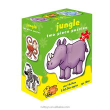 High Quality Intelligent Toy 3D Jungle Animal Jigsaw Puzzle for Kids