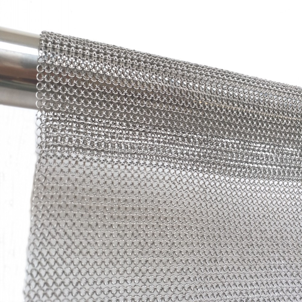 Safety and Beautiful Stainless Steel Ring Mesh Decoration Curtain