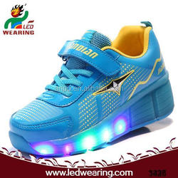 CHARGE RUNNING pu upper material and rubber outsole material led shoes