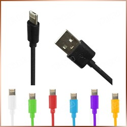 1M Length Classic Simple USB Cable For Iphone Samsung 2 in 1 Data Link Cable