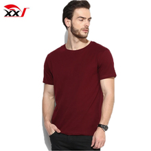 Mens streetwear clothing plain no brand basic 100% combed cotton t-shirt online shopping China clothes