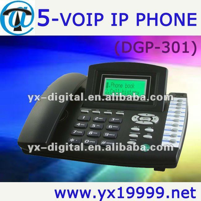 sip voip phone 5 lines internet phone free call