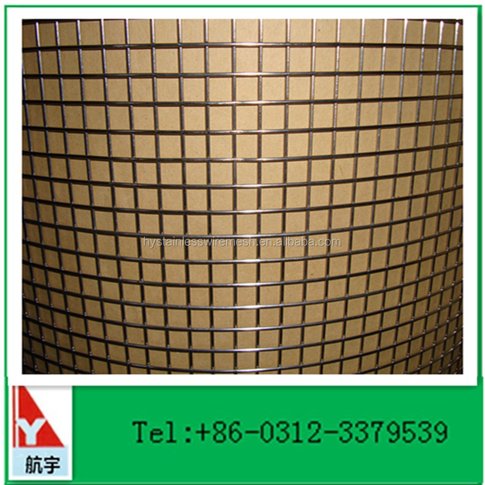 Manufacture in China 1/2 inch square stainless steel welded wire mesh