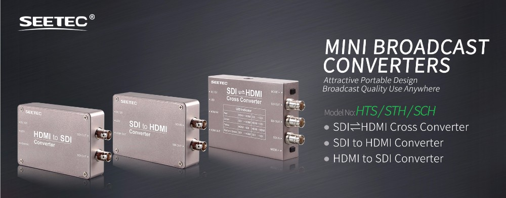SEETEC new release single mode switch equipment sdi to hdmi converter box