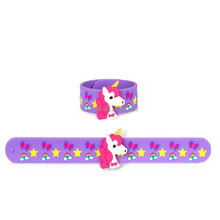 Custom lovely kids 3d slap bracelets with automatic rubber dispense