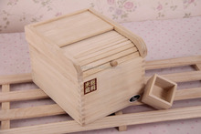 hot selling decorative storage boxes paulownia wood storage box wood rice container