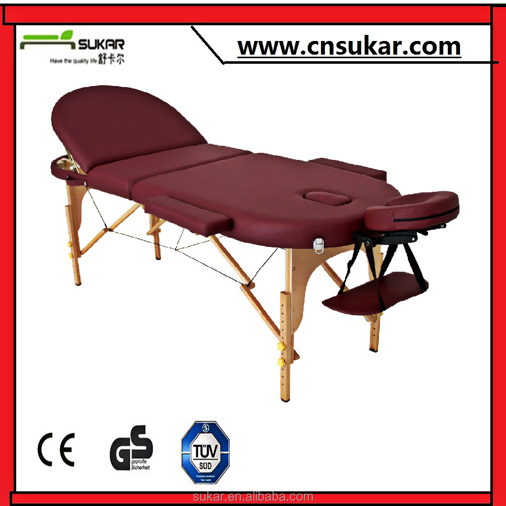 Wholesale Wooden folding ceragem massage bed spa equipment Salon Furniture With High density foam and Solid wood