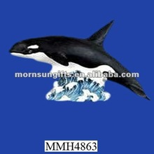 Wholesale resin killer whale sculpture