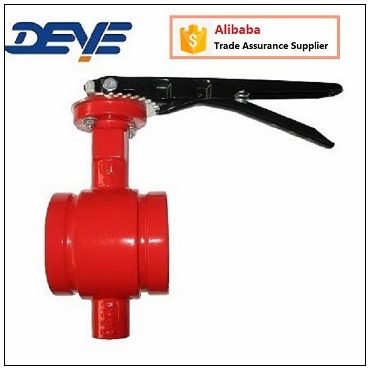 EPDM Seated Groove Ends Shoulder Butterfly Valve