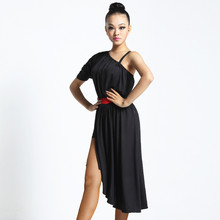 OCT7050 Hot Sale Cheap Womens Girls Sexy Lyrical One-shoulder Performance Latin Dance Costumes