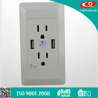 USB wall outlet without switches 2 USB ports usb wall socket USA