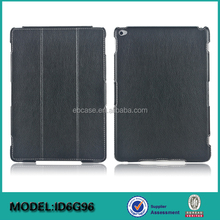High Quality Custom 3 Folding Leather Case For Ipad Air 2,For Ipad Air 2 Flip Leather Case