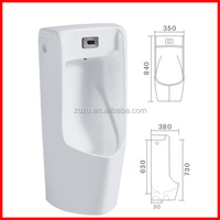 cheap ceramic wall hand automatic sensor urinal urine pot for male