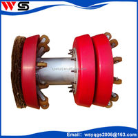 steel brush wheel supporting pig polyurethane pigs cleaning pigs equipment
