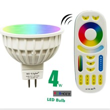 DC12V 2.4G Wireless Milight Dimmable Led Bulb MR16 RGB+CCT Led Spotlight+ Remote Control