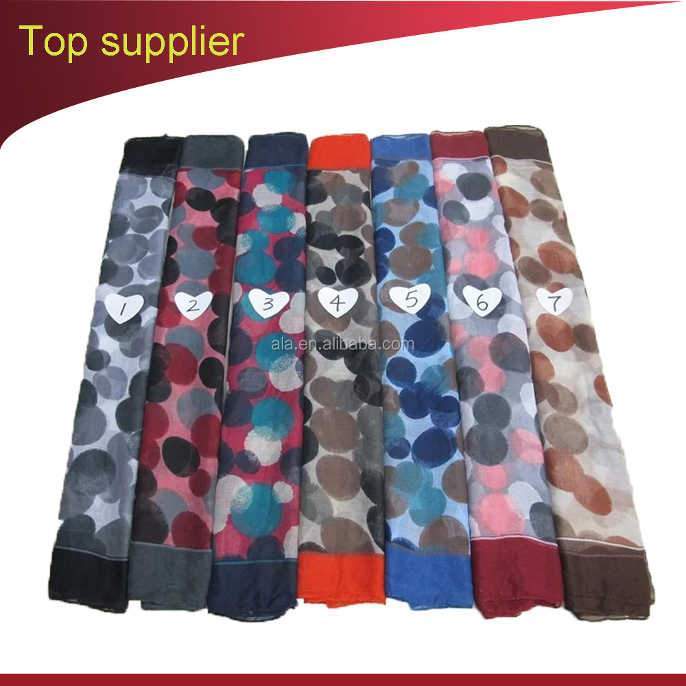 Yiwu Voile Scarf Importers new fashioned luxury very soft printed cotton voile long scarf