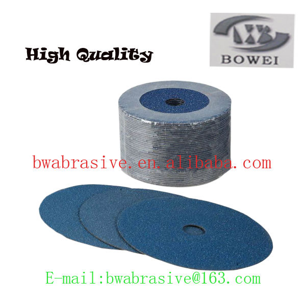abrasive fiber disc for grinding and polishing stainless steel