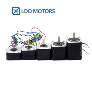 LDO 42BYGH 42mm series stepper motor with customizable shaft cable length and connector