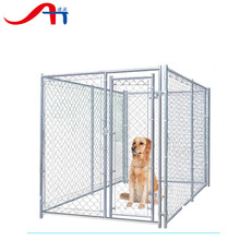 chain link double dog kennel lowes/dog kennel building, 10x10x6 foot classic galvanized outdoor dog kennel