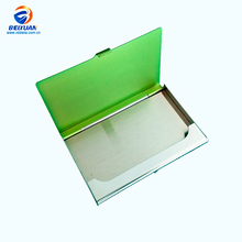 Stainless steel mirror plated metal Tobbaco Box business name card holder case