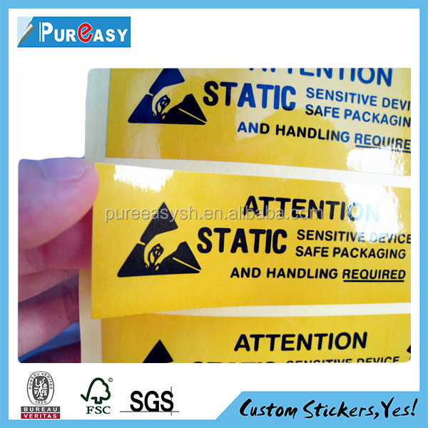 custom shipping box warning stickers labels for carton packaging