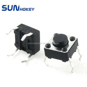 6x6x4.3mm Momentary Tactile Tact Switch 4 Pin DIP Through-Hole Momentary Push Button