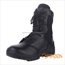 High quality black leather light weight original swat boot, indian army shoes, bota militar factory SA-8311