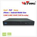 WETRANS Super POE NVR 8 channel NVR TN-808P8 Support 2 HDD up to 6TB Mobile Watch Onvif NVR China DVR Manufacturer