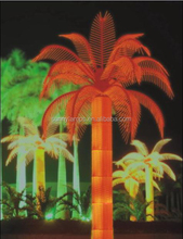 2015 hot sale outdoor artificial garden street decoration led coconut palm tree lamp, outdoor lighted palm tree