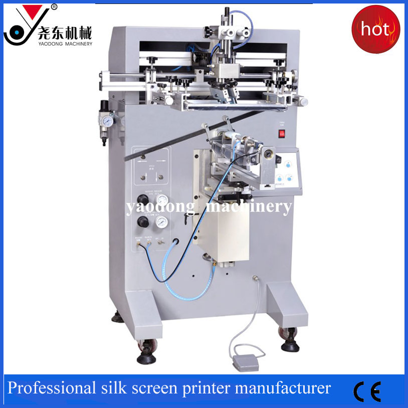 manual multicolor PE plastic bottle screen printing machine for sale