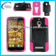 Hot selling T stand cover combo case for alcatel one touch fierce 7024w