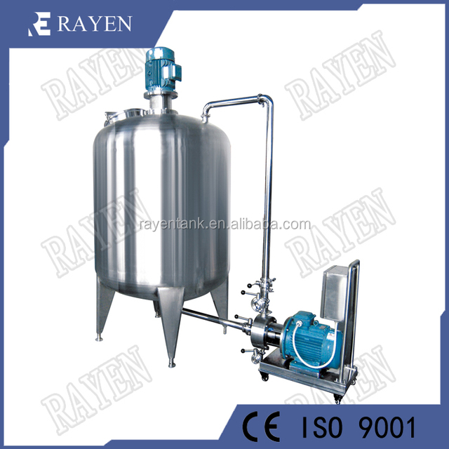 SUS304 sanintary high shear homogenizer mixer cosmetic chemical vacuum emulsifying mixer