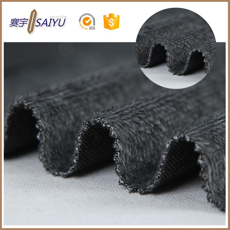 china High quality polyester knit cotton yarn dye cotton velvet fabric