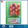 Heat seal surface ziplock bag kraft plastic bag with window without handles for dries fruits