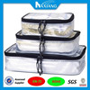 Waterproof Travel Packing Cube 3PC set Spill Proof Travel Organizer for wet clothes PVC Toiletry Bag Cosmetic Case Laundry Pouch