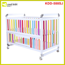 China new design popular Steel baby crib attached bed , baby crib cot , baby crib importers