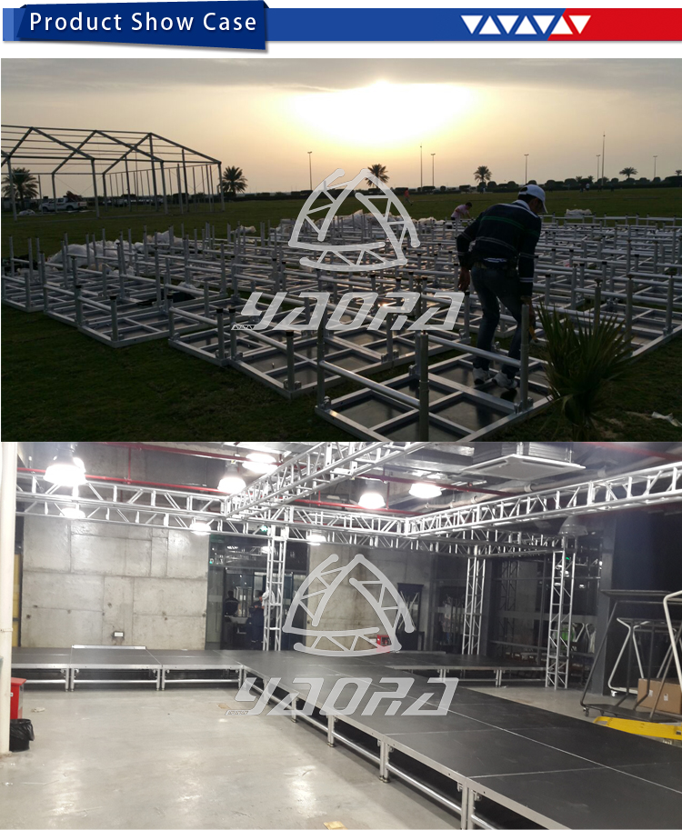 Easy Set Up Stage 2017 Event and Stage with Stage Ladder and Adjustable Height