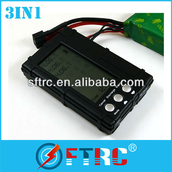 3 in 1 Battery Balancer LCD, Voltage Indicator, for RC car/helicopter/airplane/quadcoper/boat/toy/model/DJI Phantom for RC car/
