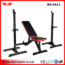 Squat Stand & Adjustable Incline-Decline Gym Collapsible Weight Bench Leg Extension