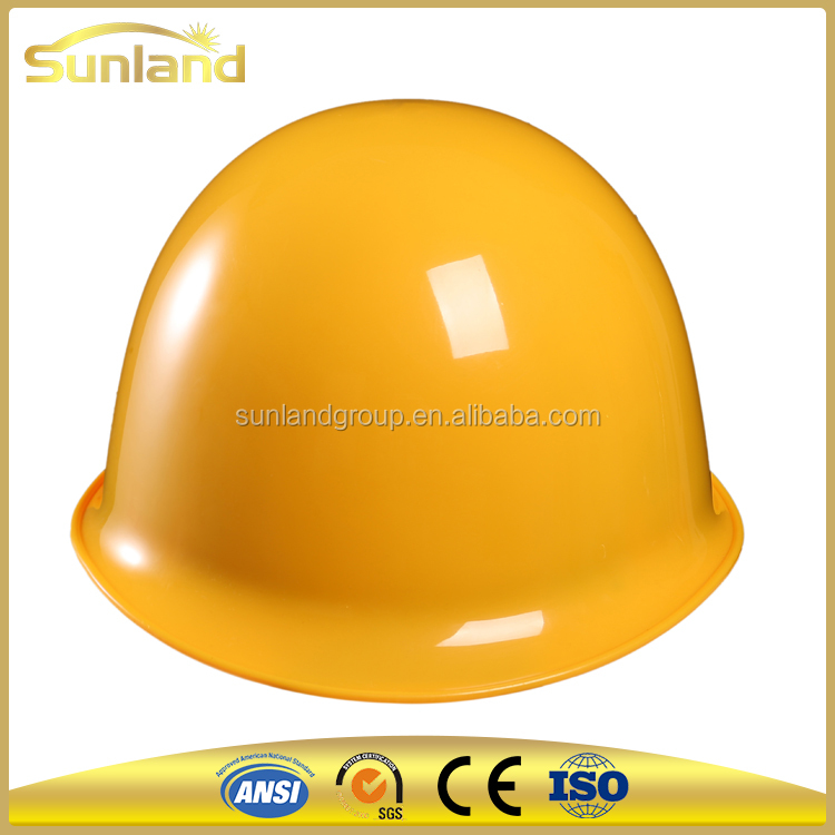 yellow PPE en397 protect abs mining industrial safety helmets, construction safety helmet